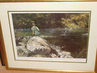 LIMITED EDITION SIGNED PRINT ,FIRST CATCH BY ALAN HAYMAN