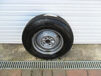 CARAVAN SPARE WHEEL WITH TYRE