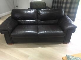 Brown Leather Sofa 3 Seater, 2 Seater and 2off 1 Seater