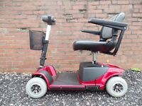 Pride Revo 4mph mobility scooter in red