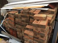 150 house bricks for £50. To collect. All in good condition. All the concrete etc taken off.