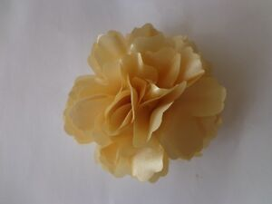 New Silk Flower Hair Clip Brooch Wedding Corsage Flower Clip 8.5cm (UK Seller)
