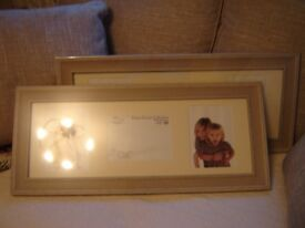 Two Photo Frames, grey, size: 12 x 27 inches (H, W), unused, in original wrapping, for 7x5 cm photos