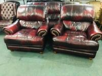 Top of the range leather 3 11 sofa set