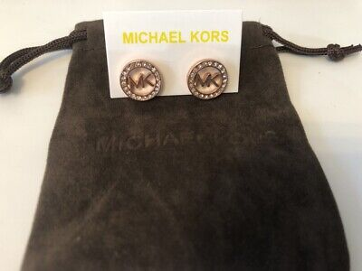 Michael Kors Earrings Rose  stud With a Pouch