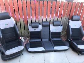 Octavia VRS half leather seats