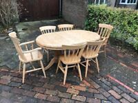 Solid pine 6/8 seater table