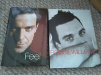 Robbie Williams hardback books X 2 Feel and Somebody Someday Excellent condition