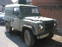 Land Rover Defender 90 MOD 2.5 NA. J reg 1992. Project condition.