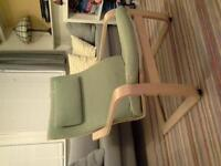 Green Ikea Poang chair