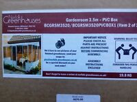 DIY steel pvc garden room, summer house, lean to 3.5 m long boxed new Greenhouses - Norfolk