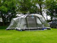 Outwell Montana 6 tent + front extension & fitted carpet