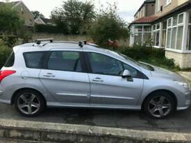 Peugeot 308 2009 1.6 6/7 seater estate pan roof px welcome