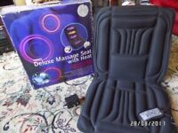 Soothing Heat & Massage Therapy Seat, Home or Car use. 2 power levels. Ideal Christmas gift