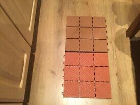 Durable garden tiles