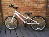 Apollo Envy children's bike, white, hardly used, virtually as new!