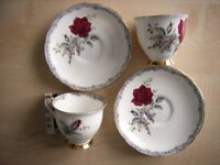 Tea cup & Saucer, 2, Royal Stafford 'Roses to Remeber'