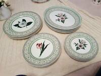 16 piece Plate collection- The Royal Horticultural Society - Applebee Collection.