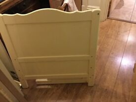 Wooden cot bed with removable sides