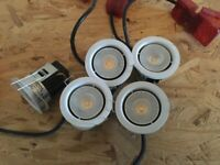 5 Fixed White Downlights / Spotlights