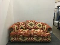 Bright And Colourful Two Seater Sofabed