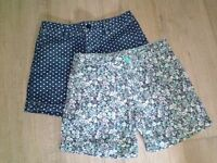 Fashionable girls shorts - two pair - Gap Kids - size 14 - for 10-12 year old