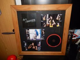 Framed Amy Winehouse Picture presentation - One Off Phone card Music Display