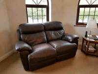 Real leather sofas 3+2 recliners