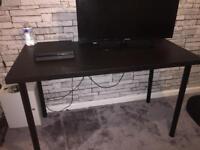 Black desk.