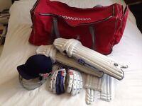 Woodworm Cricket Bag, Gray Nicholls Pads & Helmet