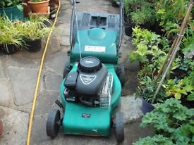 Qualcast Petrol Mower (full working order) With A Grass Collection Box