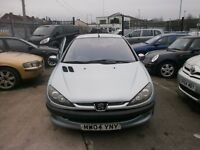 PEUGEOT 206 1.4 3 DOOR 12 MONTH MOT ALLOY WHEELS