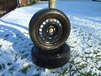 GOODYEAR ULTRA GRIP M&S Winter tyres 185/55R15 and Vauxhall Corsa C steel wheels
