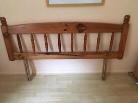 Double bed pine headboard