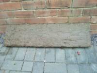 Rail way sleepers concrete paving