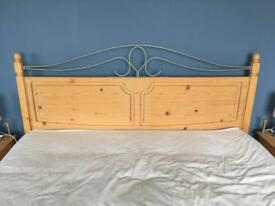 Headboard (king size) & 2 matching bedside tables