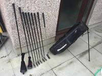 Dunlop golf set. Graphite irons, 5 wood, rescue club, putter & bag. Excellent Condition.