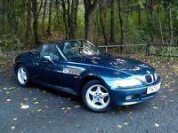 BMW Z3 1.9 AUTOMATIC ROADSTER, POWER HOOD, SERVICE HISTORY, MOT TO MARCH 2017, WELL LOOKED AFTER CAR