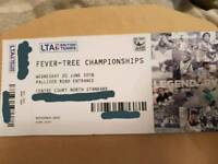 URGENT! 2 tickets for today's tennis fever-tree championships