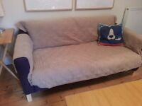 2 x Large suede effect sofa covers (one chewy previous owner)