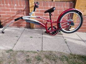 Adams Original Shifter 7 Trail-A-Bike for kids 4-6 years old