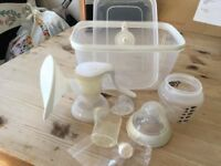 Tommee tippee manual breast pump and storage tub