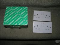 6 Electrical Double Socket Plates Weymouth Free Local Delivery