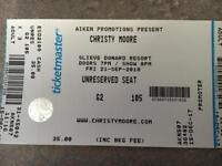 Ticket for Christie Moore tonight at Slieve Donard