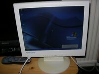 15 inch Relysis Monitor, excellent condition, VGA. Great for CCTV, computer, etc