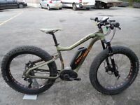 Haibike Xduro Fat Six Bosch Electric Fat Mountain Bike Ex Demo Only 360 Miles Located Bridgend Area