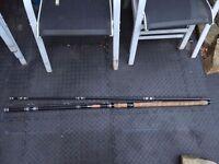 "D.A.M DAM Black Carp Rod 4.2m 3 Piece Coarse Fishing Rod ""Black Carp"" Waggler"