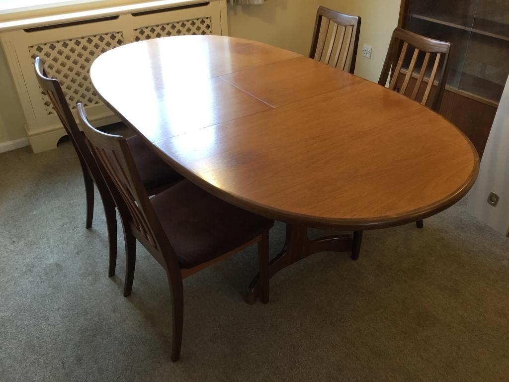 G Plan Extending Dining Table And Chairs In Sheringham Norfolk Gumtree