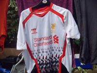 LIVERPOOL FC TOPS AND SPORTS COAT £10 EACH AS NEW SIZE MEDIUM