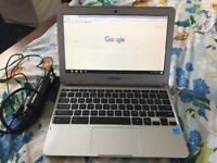 Samsung Chrome book. Good condition, long battery life, full working condition